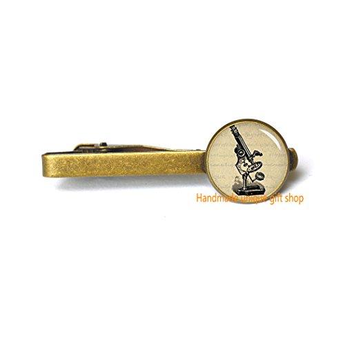 Handmade unique gift shop Fashion Tie Clip,Microscope Tie Clip - Science Tie Clip - Laboratory Gift-RC180 (B)