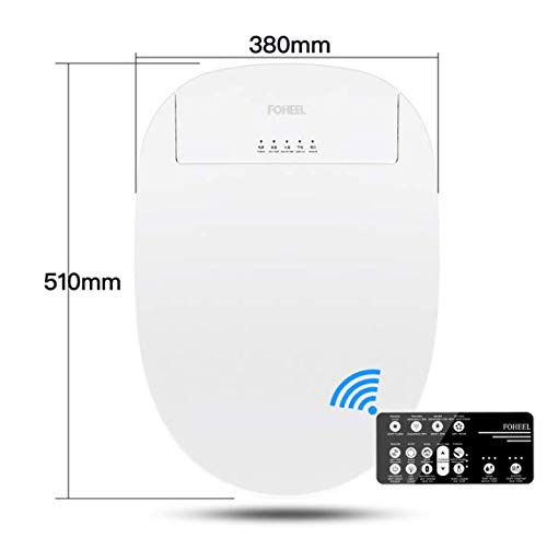 WANGYONGQI Intelligent Toilet Seat Elettrico Cover Smart Bidet riscaldato Sedile del Water LED Light WC Smart Coperchio del Water,B