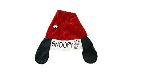 Peanuts Snoopy Ears Christmas Jingle Santa Hat - Adjustable
