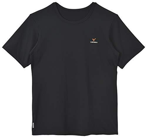 VENEX(ベネクス) リカバリーウェア リフレッシュTシャツ メンズ ブラック M 67050304