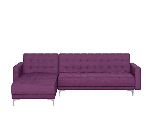 Canapé d'angle Tissu Moderne Violet