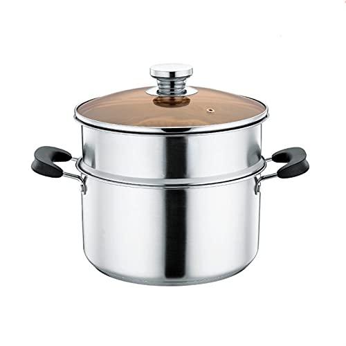 HHTD Vaporizador de Acero Inoxidable Espeso Olla de Sopa Doble vaporización de Gas Cocina de inducción Cocina Dual Uso de Cocina Olla Utensilios de Cocina