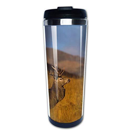 Taza de café de viaje Ciervo Taza de café con aislamiento de acero inoxidable Botella de agua deportiva 13.5 Oz (400 ml) MUG-4891