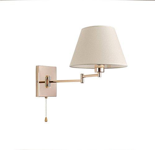 Lámpara de Pared Aplique de pared Simple lámpara de cabecera Lámpara de pared moderna de hierro de la manera arte creativo del balancín Doblar la sala de estar dormitorio con el interruptor