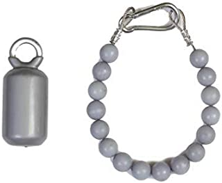 Flagpole Retainer Ring and 3.5 lb Counterweight Set Silver/Gray USA Made Keep Flag Close to Pole (20