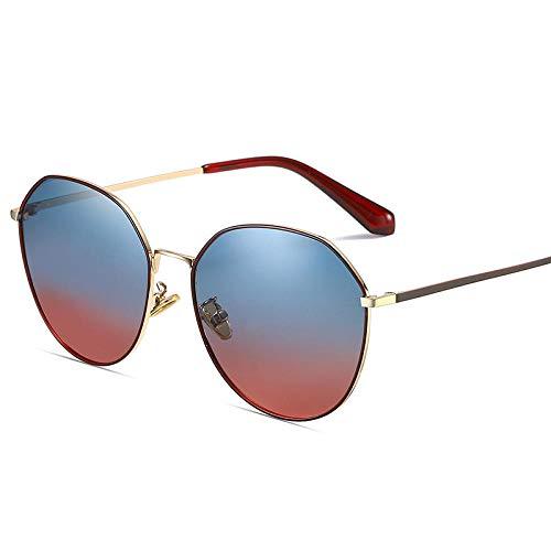 HPPSLT Sportbrille Polarisierte Sonnenbrille Fahrerbrille, Metallic polarisierte Sonnenbrille Netto rot mit der gleichen Mode Sonnenbrille-6