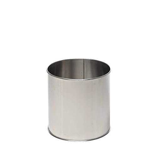 Acerto Bloembakken van roestvrij staal, vorstbestendig, weerbestendig, roestvrij, hoogwaardige bloempot, XXL plantenbak, rond en groot 50cm zilver