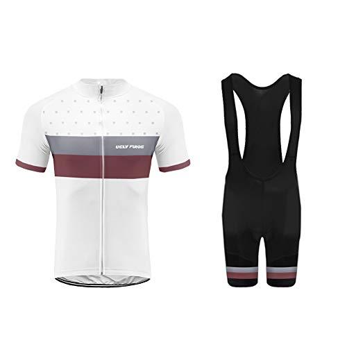 Uglyfrog Bike Wear- Mens Ciclismo Jersey Team Ciclismo Ropa Jersey Bib Shorts Kit Camisa de Secado rápido Ropa al Aire Libre de la Bicicleta