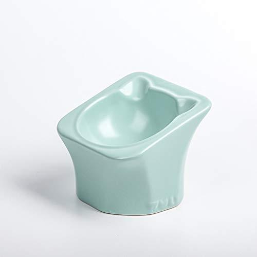SZ-CWYP Pet Bowl Cat Bowl Keramik Katzenfutter Bowl Mode Katze Ohr Form flaches Gesicht Pet Cat Bowl,P