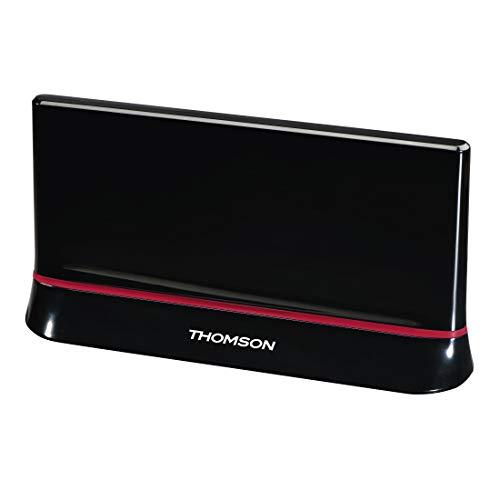 Thomson ANT1487 Innenraum TV-Antenne - TV-Antennen (Innenraum, Schwarz, 1,45 m, 1,9 m, DVB-T,DVB-T2, 43 dB)