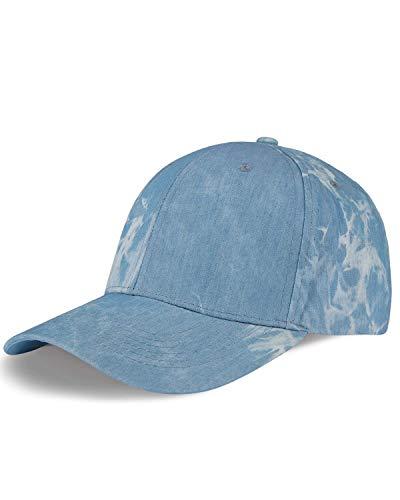 LIVACASA Baseball Cap Herren Damen Verstellbar Basecap Luftlöchern Sonnenschutz Damen Baseballkappe Cap Unisex Mütze Baumwolle Cappy für Sport Reisen Draußen Tie Dye Hellblau