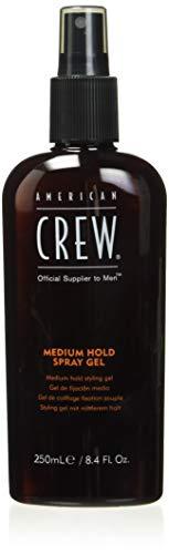 AMERICAN CREW – Medium Hold Spray Gel, 250 ml, Stylingspray für Männer, Sprühfestiger für mittelstarken Halt & natürlichen Glanz, Styling und Finish Haarprodukt, Pflege & Feuchtigkeit fürs Haar