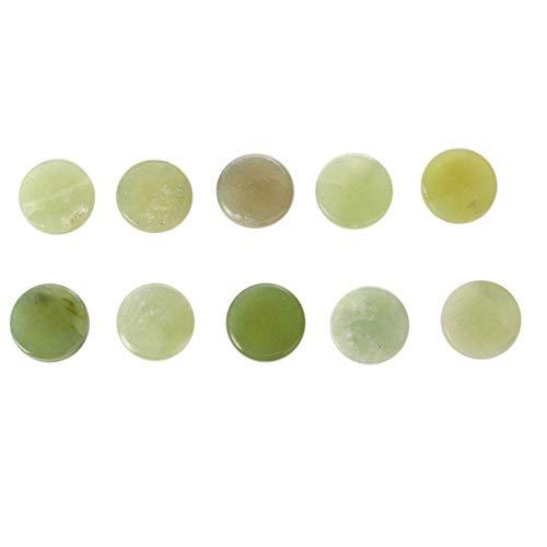 Joint de greffage de cils Palette ronde Pierre de jade, pierre de colle pour cils épais Support de support de jade Support de support de faux cils Extension de support de cils Colle adhésive de(01#)