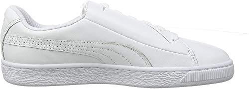 Puma Damen Basket Crush Emboss WN's Sneaker, Weiß White Silver, 39 EU