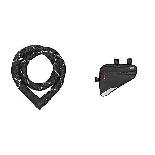 ABUS 55153_Black_110 cm Zubehör, 110 cm & Fahrradtasche ST 2250, Black, 23.5 x 19.5 x 5 cm