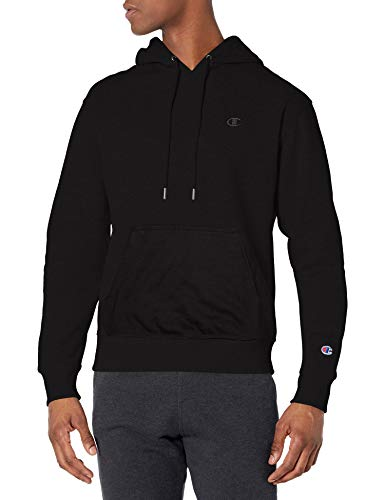 Champion Men's Powerblend Pullover Hoodie, Black, Medium
