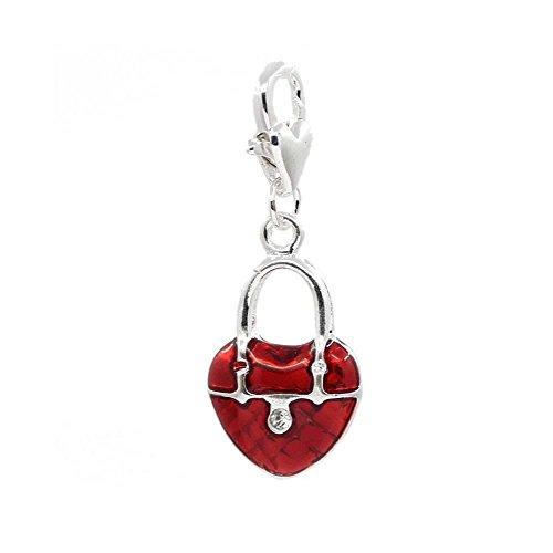 Sexy brilla de las mujeres Corazón Lock Clip en encanto para joyas con cierre de langosta