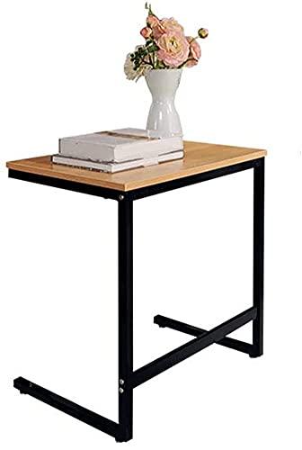 Moderne bank bijzettafel, C-vormige tafel laptophouder, eindstandaard bureau koffieblad bijzettafel, notebook tablet naast bedbank draagbaar werkstation, zwart