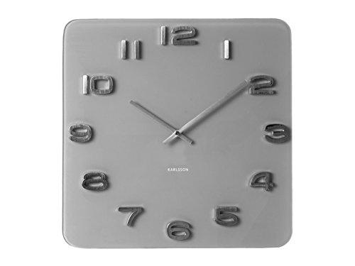 Karlsson Vintage Uhr, Wanduhr, Glas, Grau, One Size