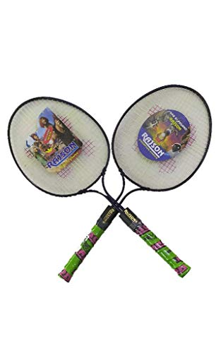 Bobby Sports® Badminton Racket Rajson Double Rod Set of 2 Piece for Kids (3 to 6 Years). racket color may vary.