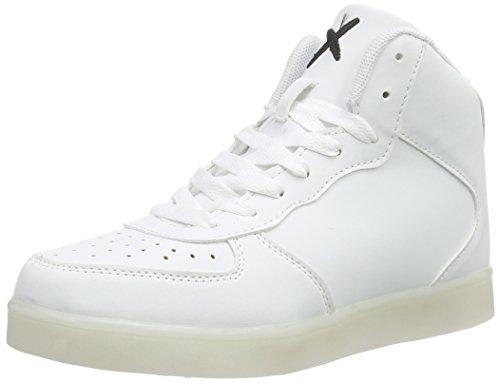 wize & ope Unisex-Erwachsene LED-Hi Low-Top, Weiß (White 01), 39 EU