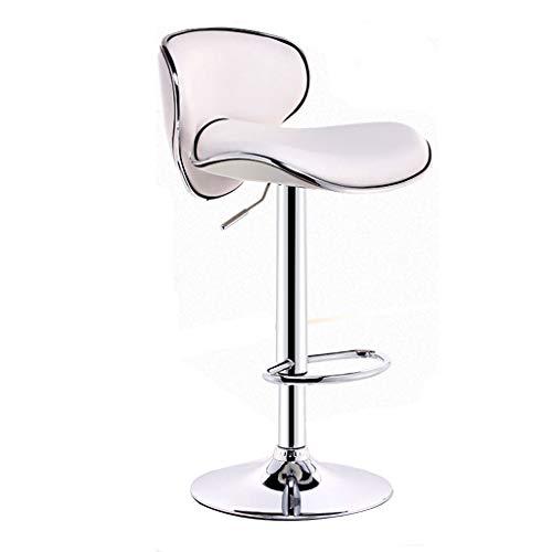 Chaise de bar chaise de bar à la mode fauteuil élévateur rotatif personnalisé tabouret de table de loisirs peut être soulevé et abaissé peut être pivoté à 360 ° (Color : Blanc)