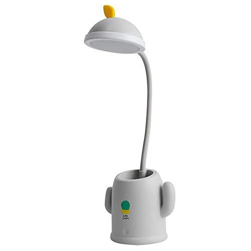 Lámpara De Escritorio LED con Atenuación Continua, Recargable, con Portalápices, Cuello De Cisne Flexible De 360 °, Utilizada En Estudio, Dormitorio, Luz De Lectura con Protección Ocular