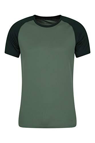 Mountain Warehouse Camiseta para Hombres Endurance - Transpirable, de protección Solar UPF30, Camiseta Ligera y cómoda, Cuidado fácil Verde S