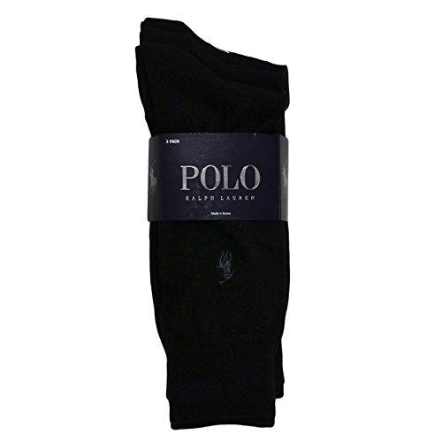 Polo Ralph Lauren Mens Dress Socks, 3 Pair, 10-13, Black