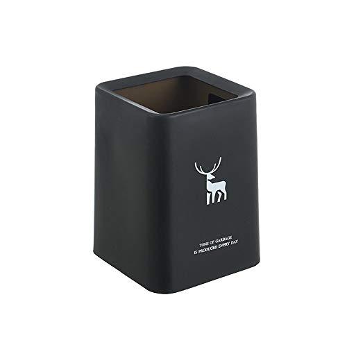 XVXFZEG Plastikquadrat Trash Can, Doppel Layern verdicken Abfalleimer Mülleimer, ohne Abdeckung abgedeckt for Badezimmer, Küchen, Home Offices, Kinderzimmer, Waste Paper Trash Can Recycling Bins