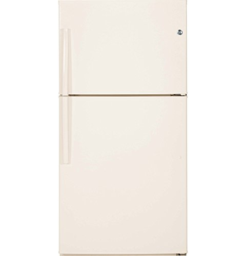 GE GTE21GTHCC 21.2 Cu. Ft. Bisque Top Freezer Refrigerator - Energy Star