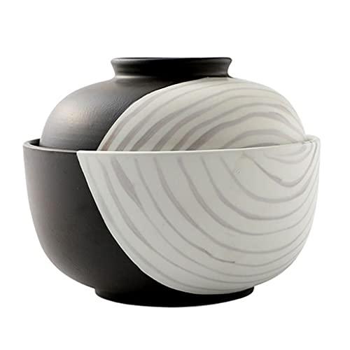 Ciotole Ciotola Singola in Ceramica Ciotola per tagliatelle da Cucina di casa con Coperchio Ciotola di Riso e Ciotola di zuppa nel dormitorio Studentesco Insalatiera di Frutta