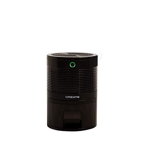 IKOHS DRYPLUS - Deshumidificador Mini Portátil Silencioso, 22 W, 600 Ml, Sistema de Apagado automático, Purifica Aire y Evitar Bacteria y Humedad, Compacto y Ligero, para Habitación (Negro - 0,6 l)