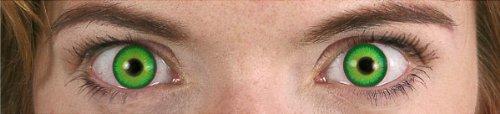 Kontaktlinsen ohne Sehstärke Motivlinsen Alien Halloween Karneval