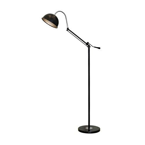FAFZ verticale vloerlamp Nordic Creative Reading, opvouwbare vloerlamp rocker, werkkamer, zwart