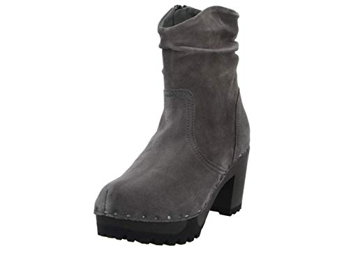 Softclox S3238 O-Bootie Kaschmir - Damen Schuhe Stiefel - 20-Graphit, Größe:38 EU