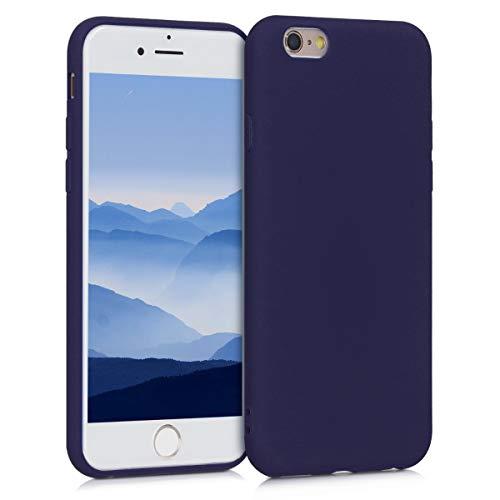 kwmobile Funda Compatible con Apple iPhone 6 / 6S - Carcasa de TPU Silicona - Protector Trasero en Azul Profundo