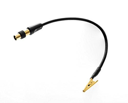 Oehlbach Antenna CC25 (hochwertiger Adapter mit Koaxial Stecker/Kupplung und Kroko-Klemme, FM UKW DAB+ DVB-T) 25 cm schwarz