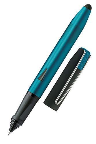 ONLINE Rollerball Switch Plus, Tinten-Rollerball und Touchpen für Tablets und Smartphones in einem, Multifunktions-Stift für Büro oder Grundschule, Standard-Tintenpatronen, Petrol, Rollerballspitze