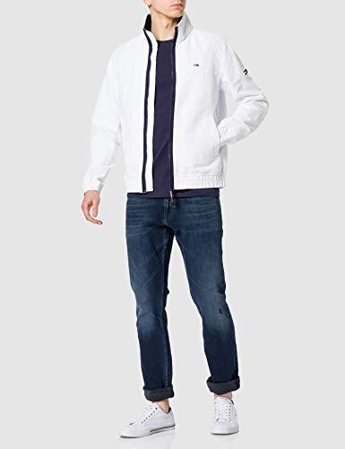 Tommy Jeans TJM Essential Casual Bomber Chaqueta, blanco, M para Hombre