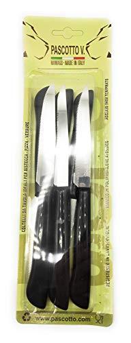 Doi Leons - Blíster de 6 cuchillos de hoja serrada para bizcocho/pizza/tabla...