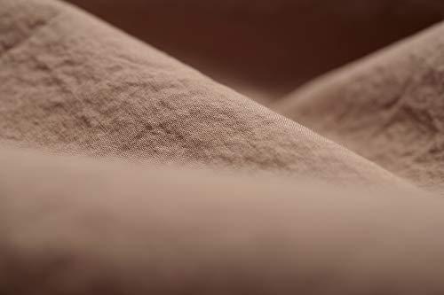 L1NK STUDIO Funda nordica Cama 105 cm Lisa (180x220cm) 100% algodón (Percal 200 Hilos) MELOCOTÓN