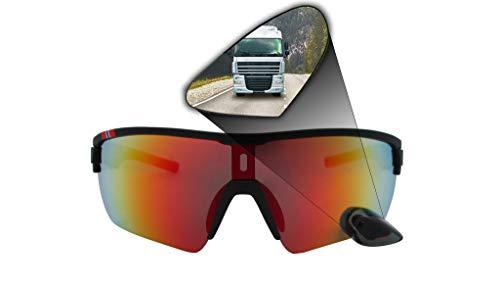 TriEye Sport Eyewear with Integrated Rearview Mirror