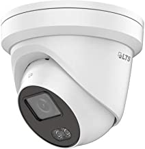 LTS CMIP3C42W-M 4mm Lens 4MP Color 247 Security Turret Outdoor IP Network Camera, RJ45 Connection