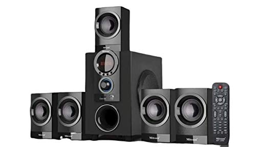 70 W RMS 5.1 Channel Home Theater System Bluetooth Speakers with Surround Sound,USB, Memory Card, FM Radio for LED TV, PC