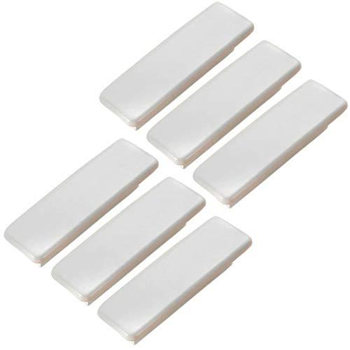 FBSHOP(TM) 6 tiradores de madera blanca para cajones de 96 mm – tiradores para armarios de cocina, muebles, aparador, armario, cajón, tiradores