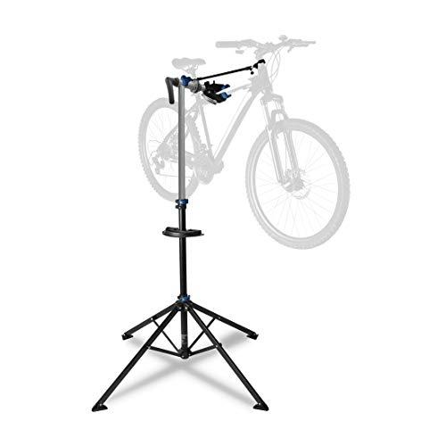 Ultrasport Cavalletto da Bicicletta, Stabile per Riparare Bici di Ogni Tipo come MTB, E-bike Fino a 30 Kg, con Caratteristiche Utili per la Riparazione della Bici, Premium con Sgancio Rapido