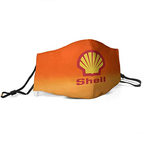 Real life Men Women Adjustable Shell-Gasoline-Symbol-Logo- Mouth Cover,Reusable Half Face Gas Protection Anti Dust Mouth Mouffle