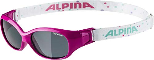 ALPINA Unisex - Kinder, SPORTS FLEXXY KIDS Sportbrille, pink-dots gloss, One Size