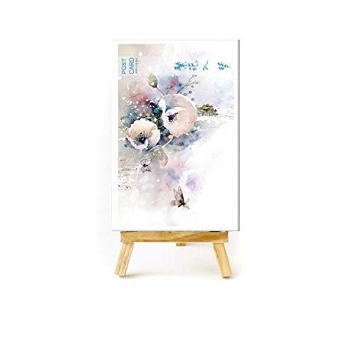 Zonfer 30 Pc/Set Natürlich Blumen-Pflanzen Grußkarte Cartoon-Freunde-mädchen-Postkarte Kinderweihnachtsumschlag Geschenk-Karten